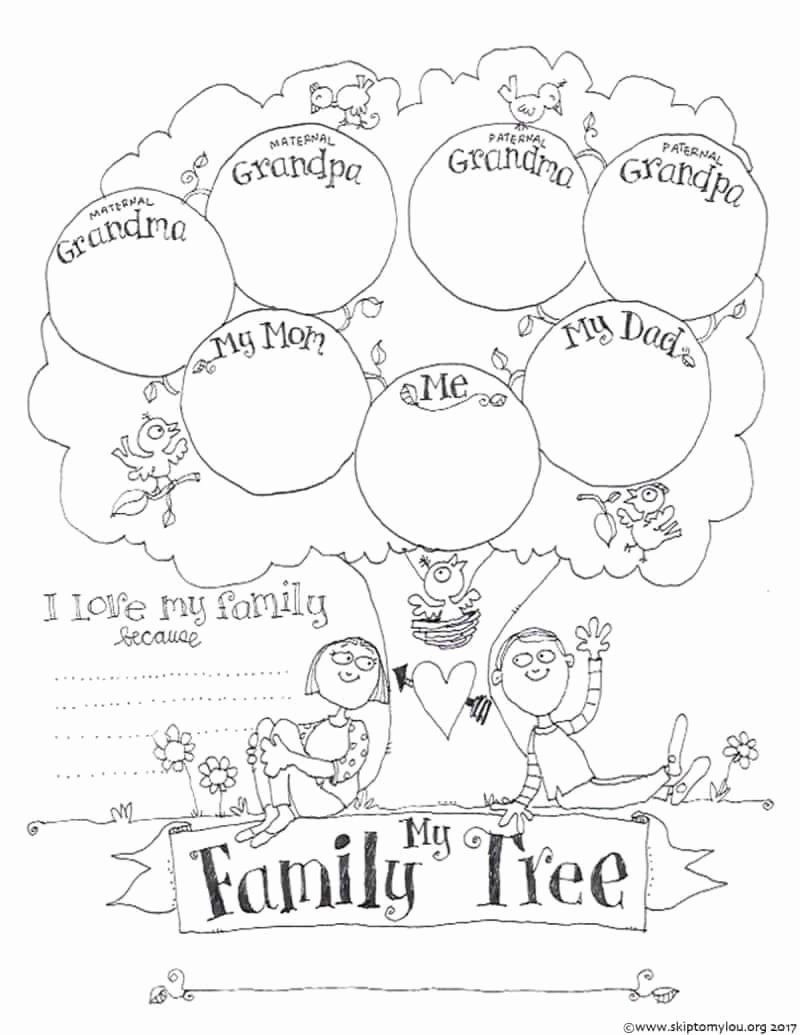 Family Tree Worksheet Printable Luxury Free Printable Family Tree Coloring Page Crafts