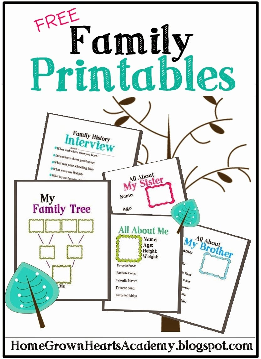 Family Tree Worksheet Printable New Free Family Tree Printables and Ideas Homeschool Giveaways