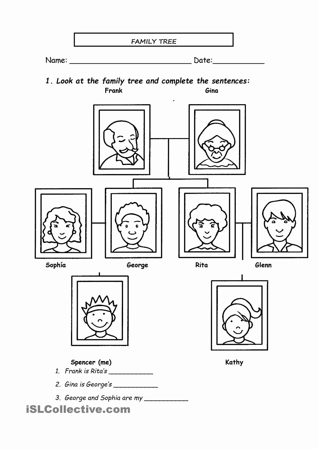 Family Tree Worksheet Printable Unique 13 Best Of Spanish Family Tree Worksheet Family