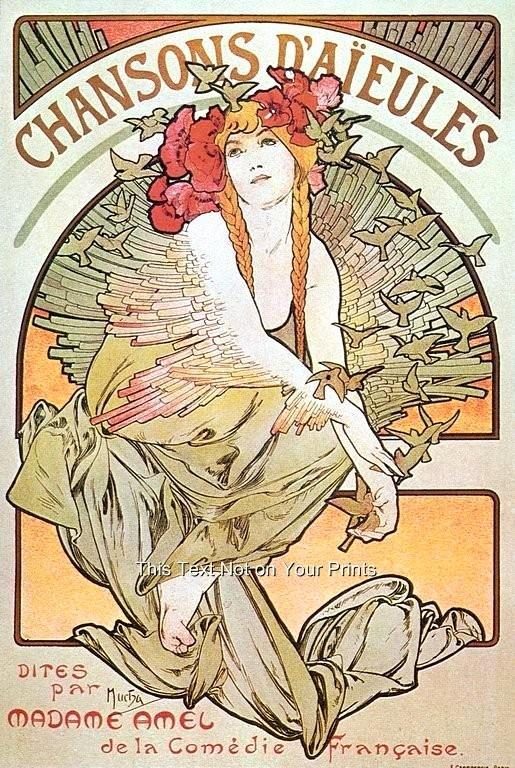 Famous Art Deco Posters Beautiful Details About Rare Alfons Alphonse Mucha Art Nouveau