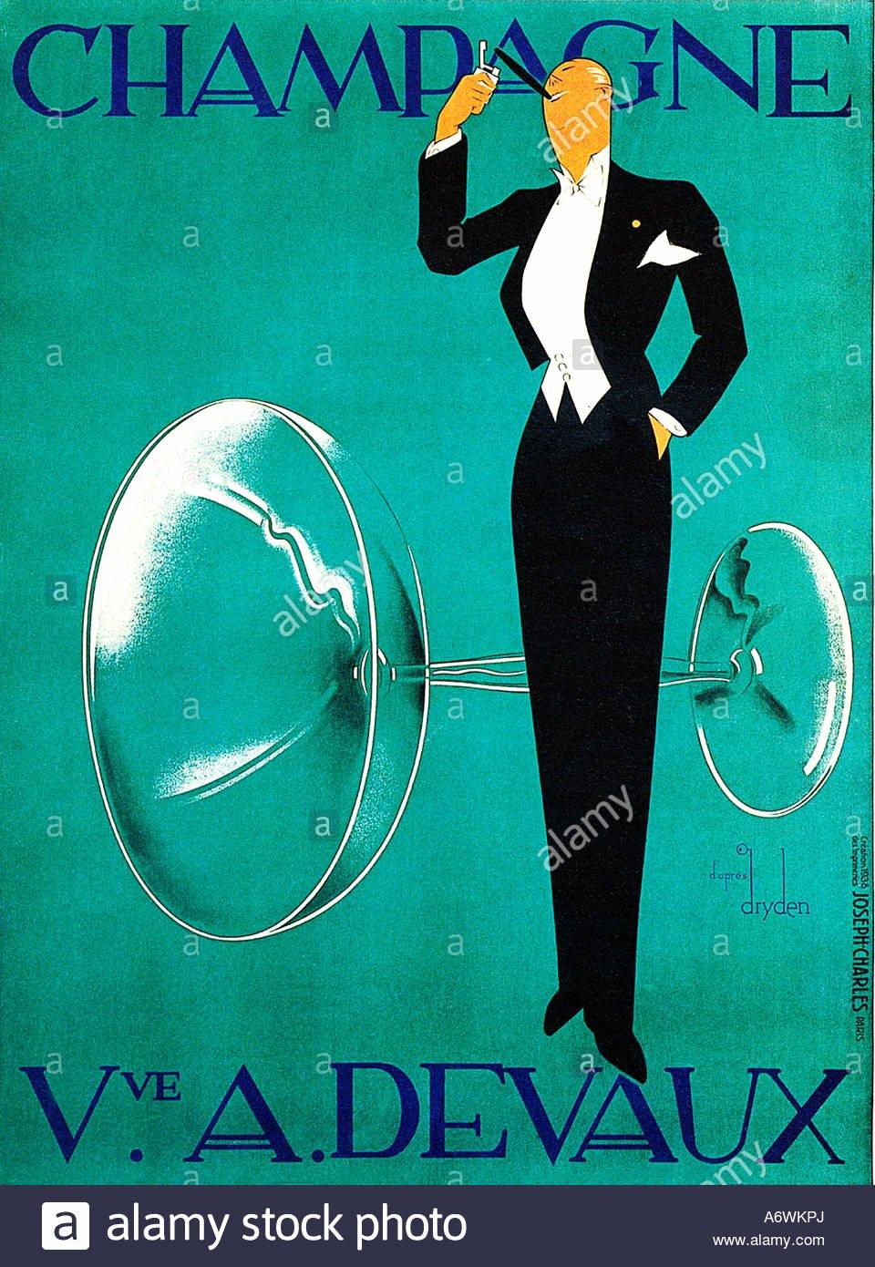 Famous Art Deco Posters Fresh Champagne Devaux the Famous 1930s Art Deco Poster for the