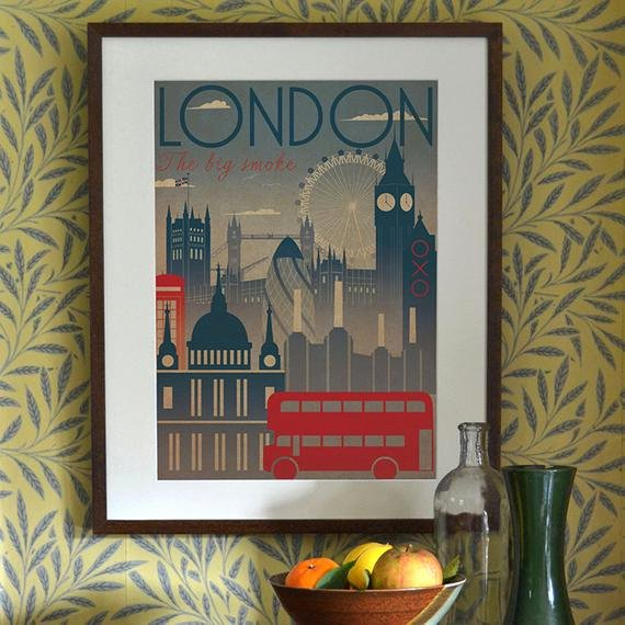 Famous Art Deco Posters Inspirational London City Art Deco Bauhaus Poster Print A3 A2 A1 Vintage