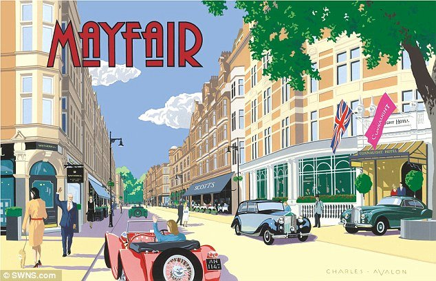 Famous Art Deco Posters Inspirational Mayfair Joins European Hotspots as top Holiday Destination