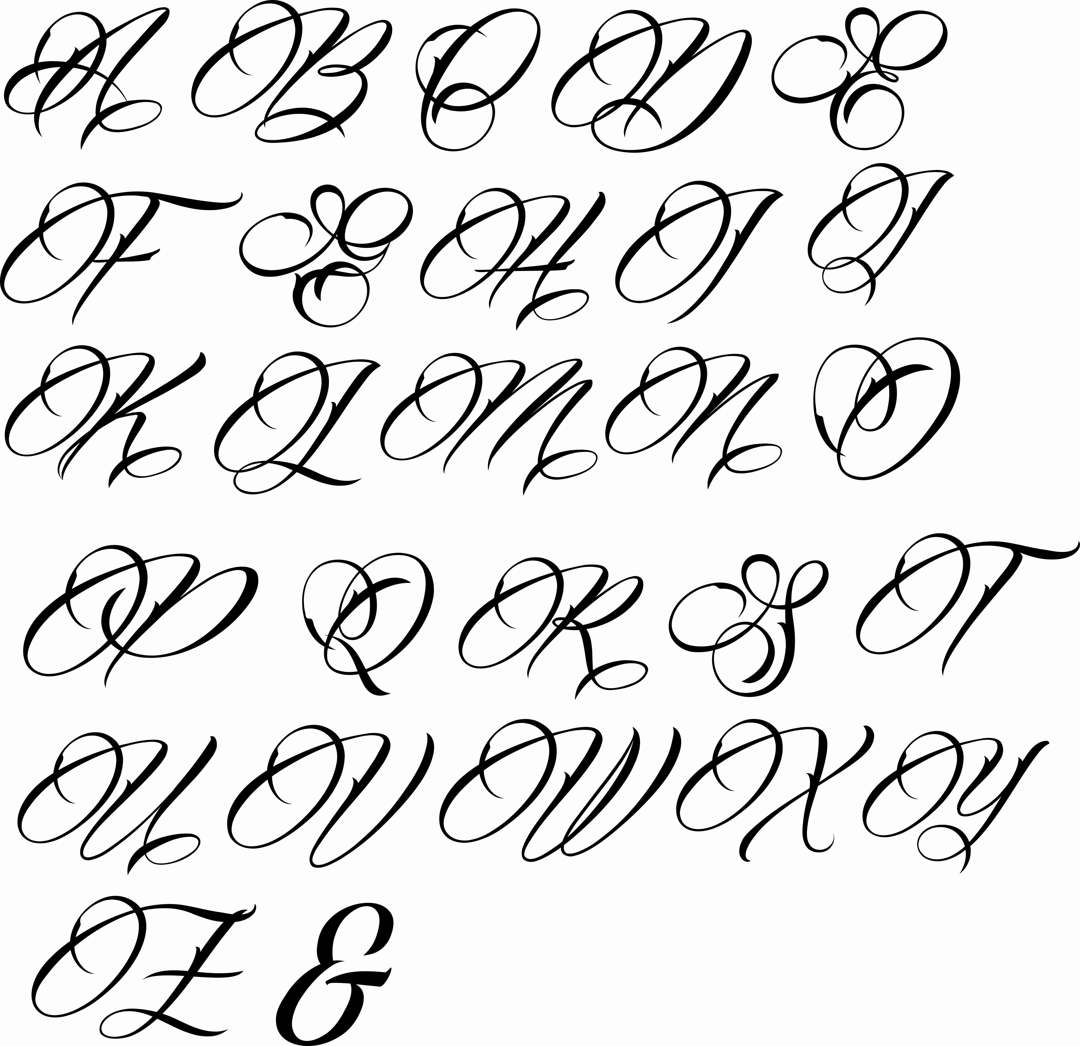 Fancy Cursive Fonts for Tattoos Beautiful Letters Fancy Font Fonts