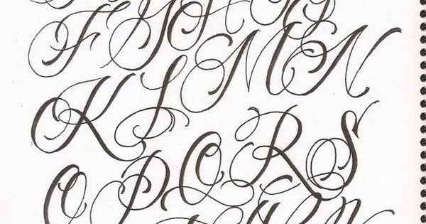 Fancy Cursive Fonts for Tattoos Inspirational for Fancy Cursive Fonts Alphabet for Tattoos