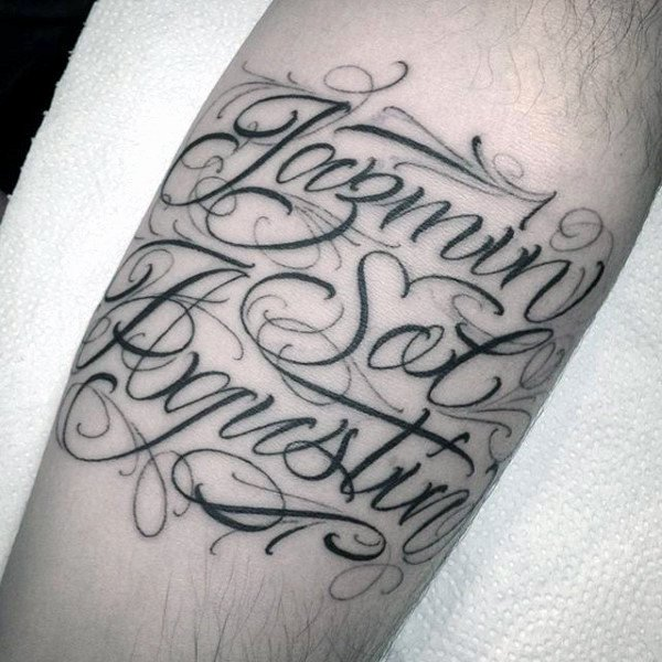 Fancy Cursive Fonts for Tattoos Luxury 60 Name Tattoos for Men Lettering Design Ideas
