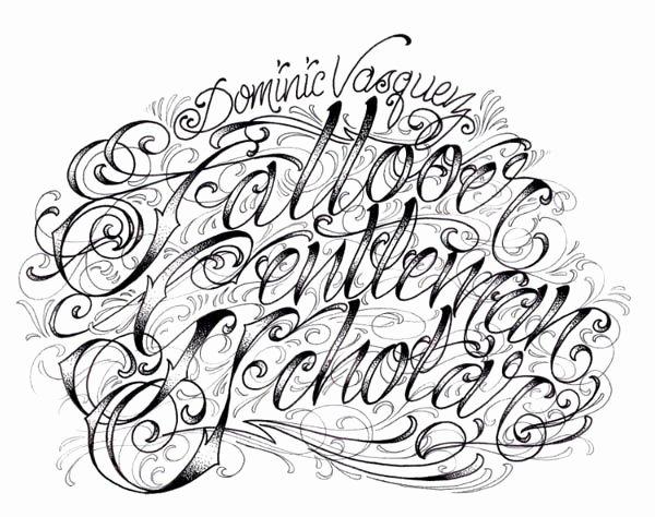 Fancy Cursive Fonts for Tattoos Luxury Image Of Fonts Fancy Script Dominic Vasquez Graffiti