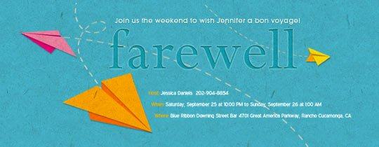 Farewell Party Invitation Wording Beautiful Trips and Getaways Line Invitations