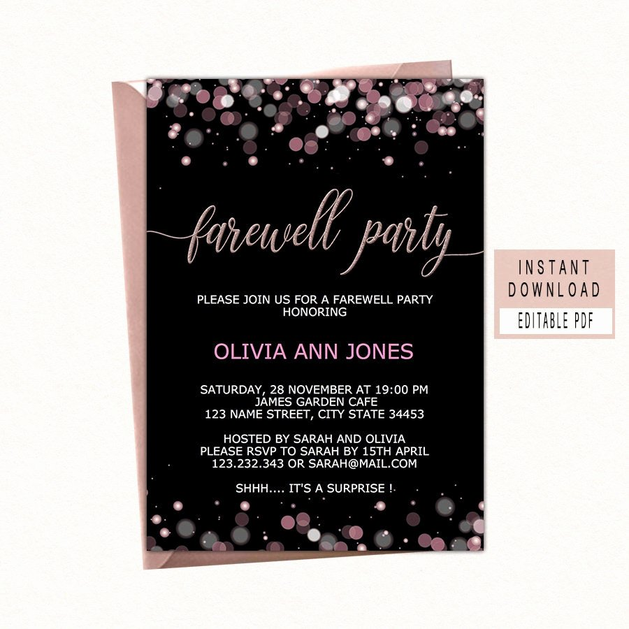 Farewell Party Invitation Wording Best Of Farewell Party Invitation Farewell Invitation