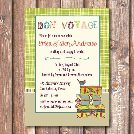 Farewell Party Invitation Wording Elegant Boho Going Away Party Invite Printable Lime Green Suitcases