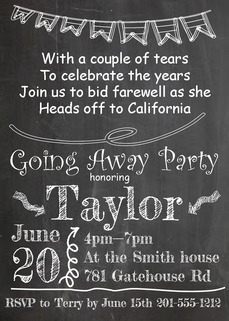 Farewell Party Invitation Wording Fresh Going Away Party Invitations New Selections 2017