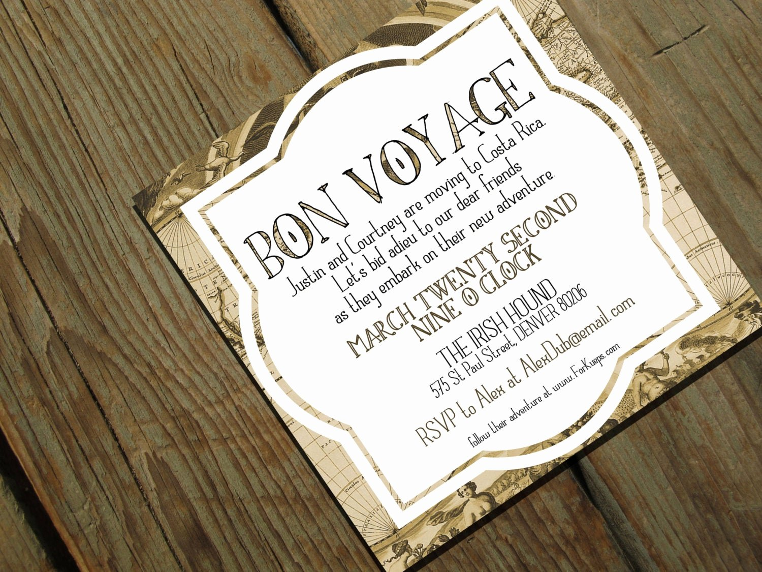 Farewell Party Invitation Wording Inspirational Bon Voyage Going Away Party Invitation Moving by