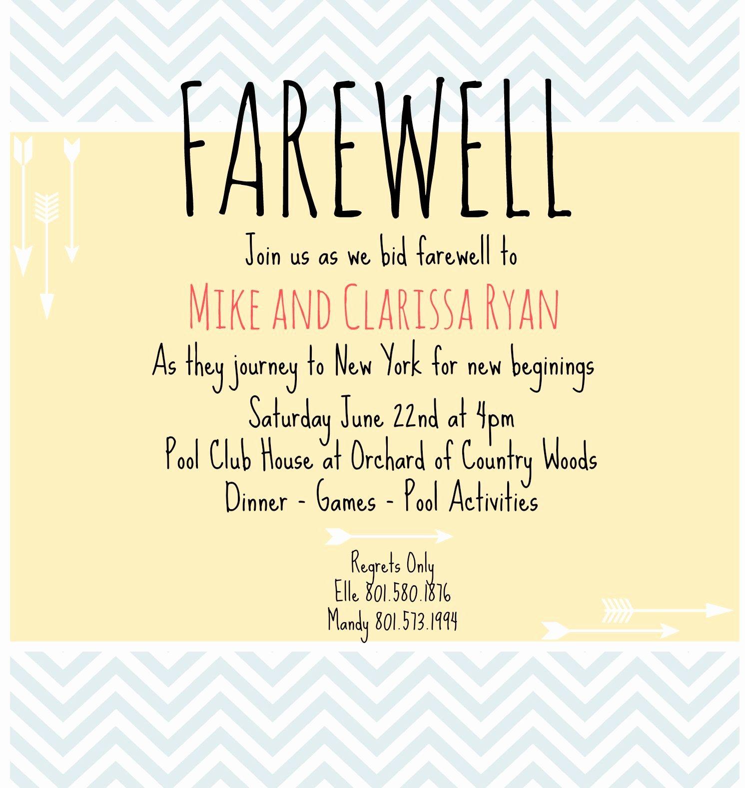 Farewell Party Invitation Wording Inspirational Farewell Invite Picmonkey Creations