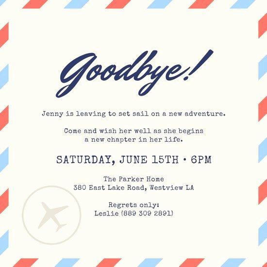 Farewell Party Invitation Wording Luxury Customize 2 402 Farewell Party Invitation Templates