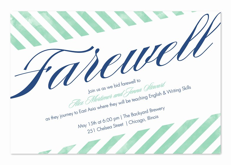 Farewell Party Invitation Wording New Farewell Stripes Party Invitations by Invitation