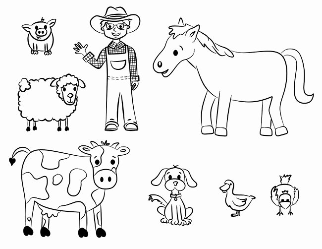 Farm Animal Cut Outs Awesome Farm Animal Template Animal Templates