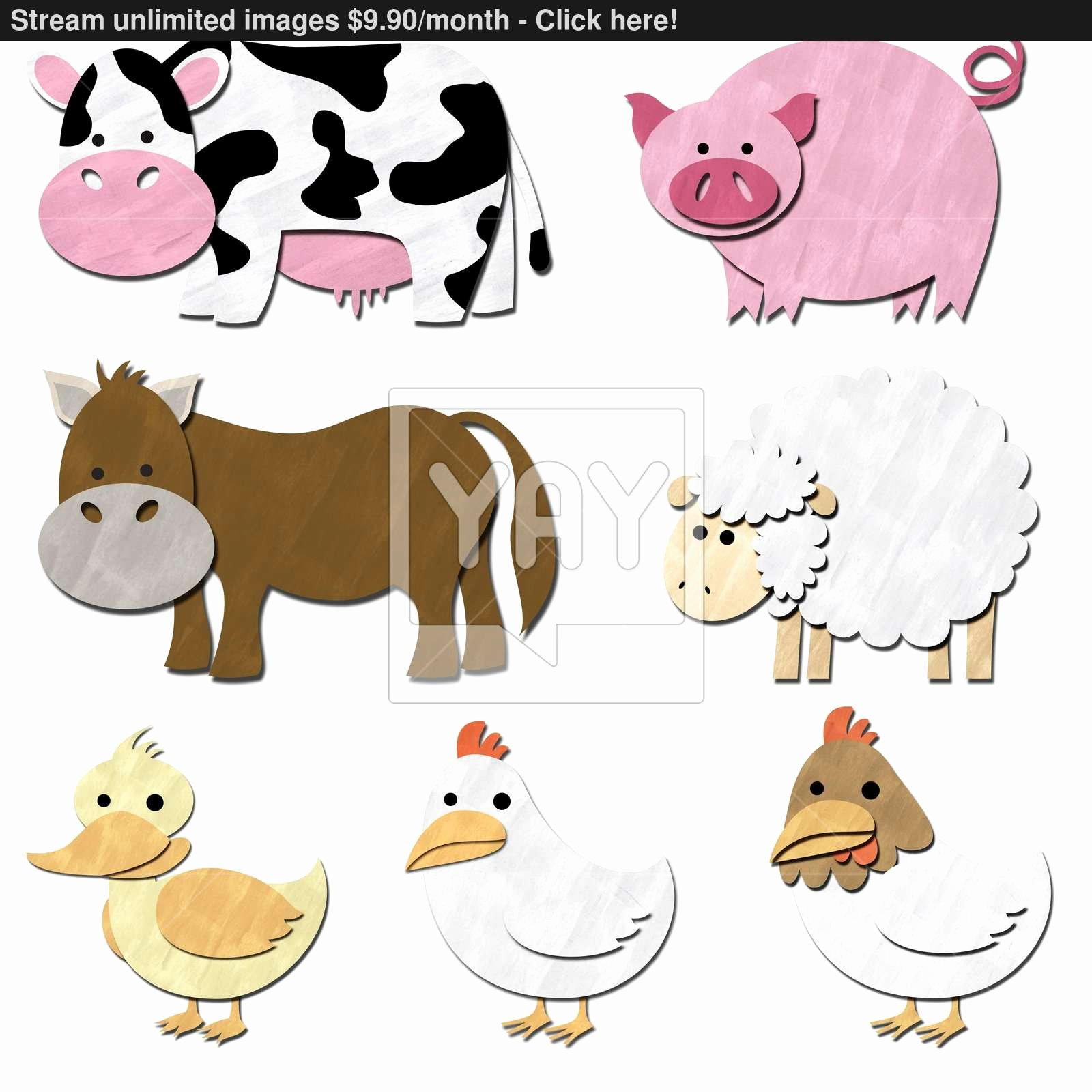 Farm Animal Cut Outs Awesome Farm Animals Pastel Cut Out Image