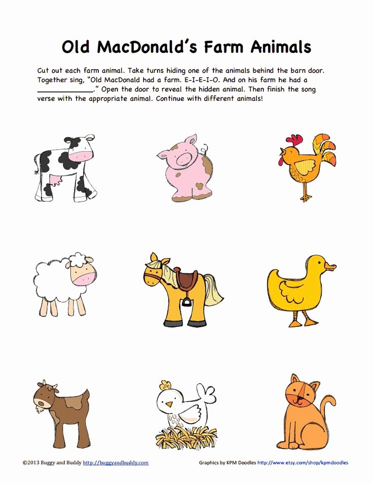 Farm Animal Cut Outs Best Of 18 Best Images About Animal Unit On Pinterest