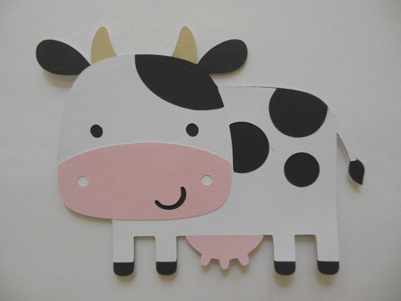 Farm Animal Cut Outs Best Of Farm Animal Cutouts Cow Birthday Party Decoration Baby
