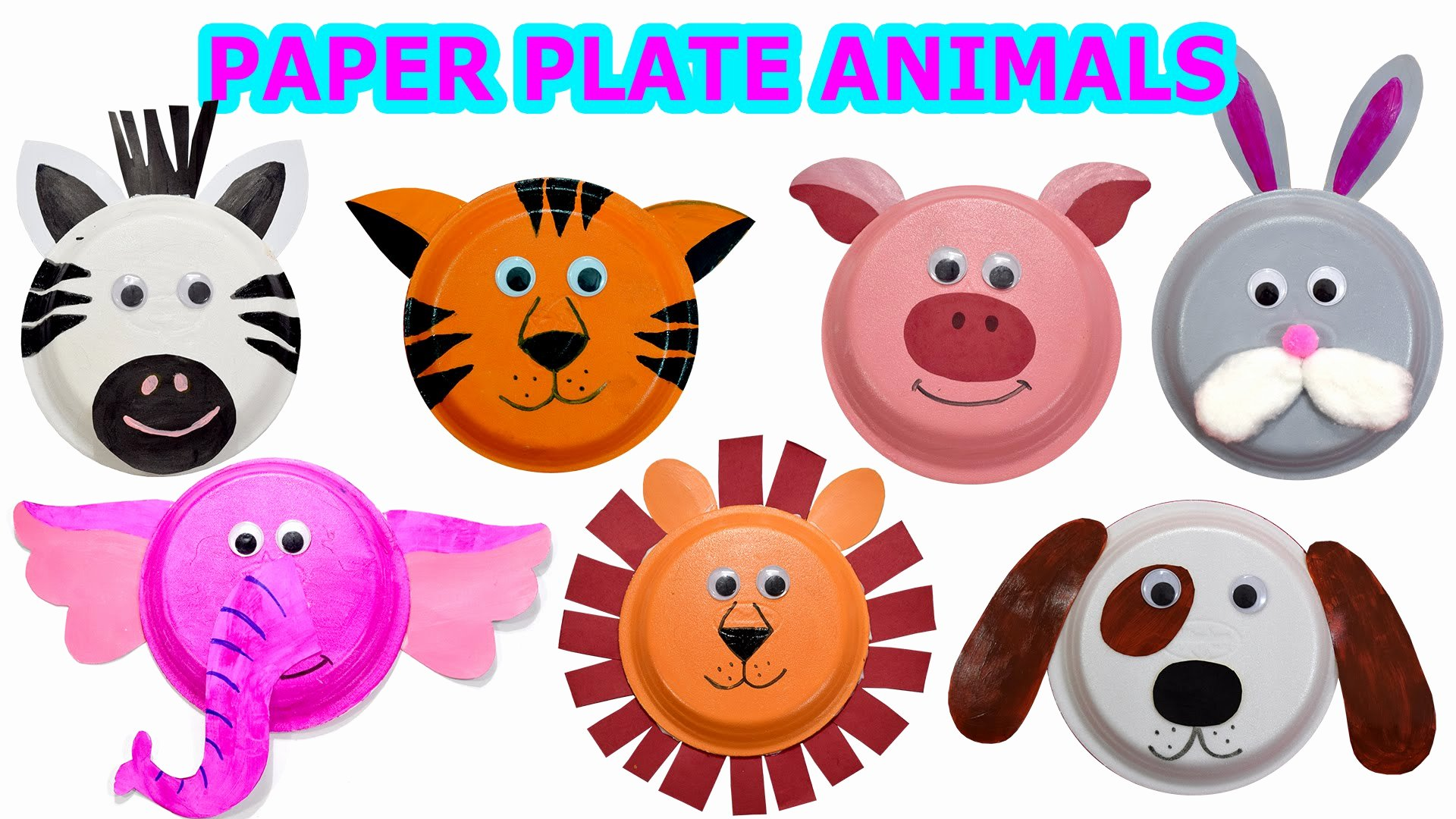 Farm Animal Cut Outs Fresh 55 Zoo Animal Paper Plates How to Create Cute Animals