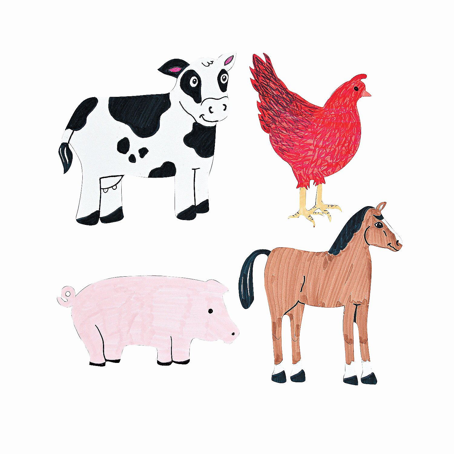 Farm Animal Cut Outs Inspirational Diy Farm Animal Cutouts oriental Trading Discontinued