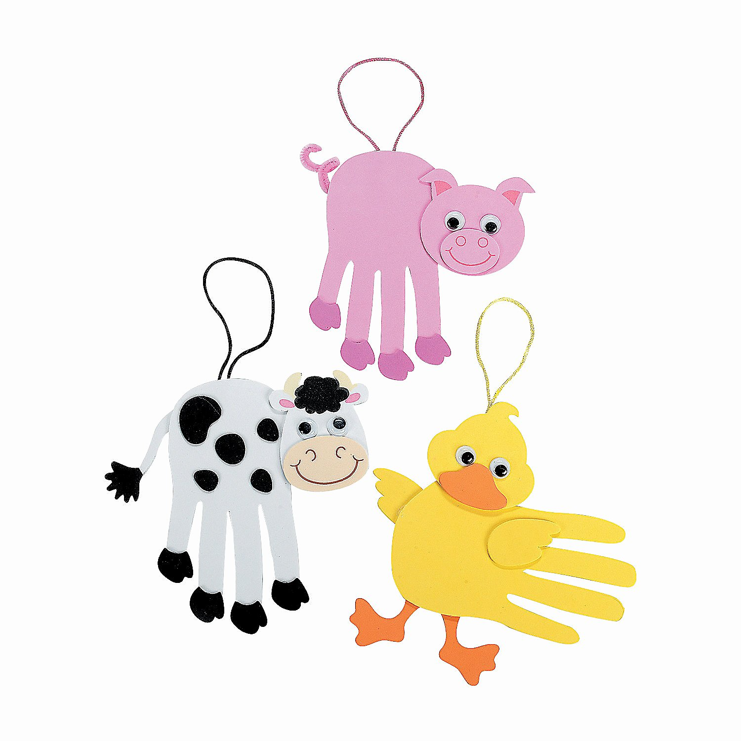 Farm Animal Cut Outs Lovely Farm Animal Handprint Craft Kit oriental Trading