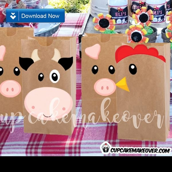 Farm Animal Cut Outs Luxury Farm Party Favors Animal Cutouts Instant Download