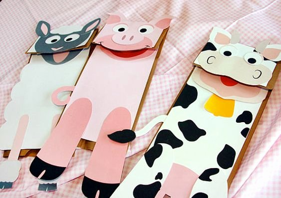 Farm Animal Cut Outs New Farm Printable Paper Bag Puppet Cut Outs
