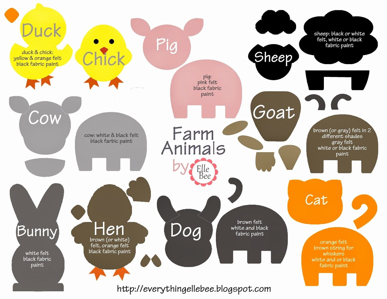 Farm Animal Cut Outs Unique A Little Bit Of Everything Free Printable Farm Animal