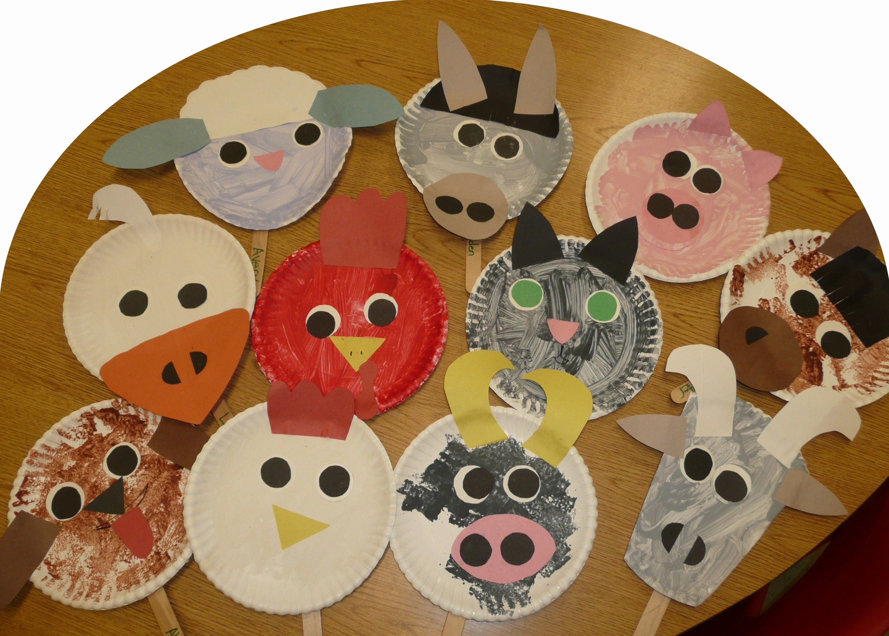 Farm Animal Cut Outs Unique Paper Plate Farm Animals Using the Animals From the Big