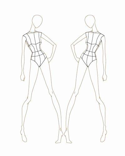 Fashion Design Template Female Beautiful Fashion Sketch Templates