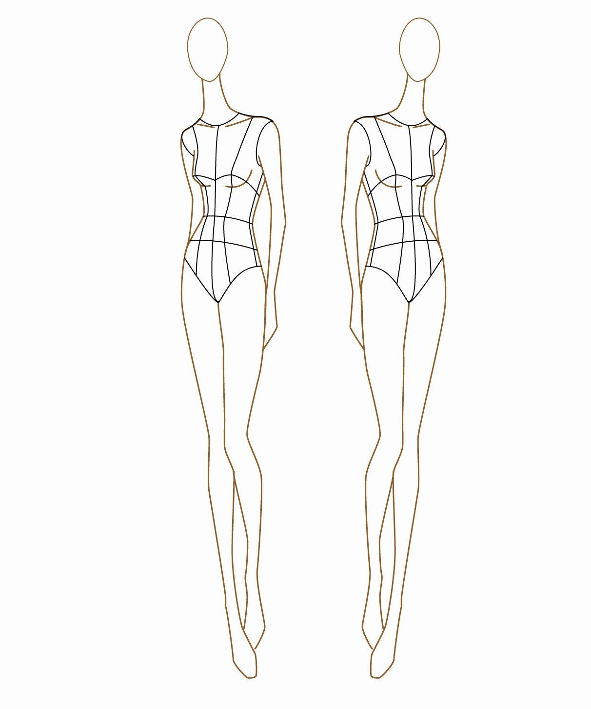 """Fashion Design Template Female Beautiful """"i Don T Do Fashion I Am Fashion """" Fashion Figure"""