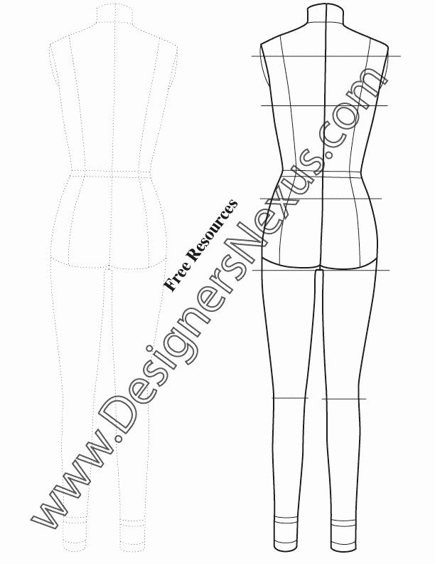 Fashion Design Template Female Fresh Pin by Designers Nexus Inc On Technical Drawing Fashion
