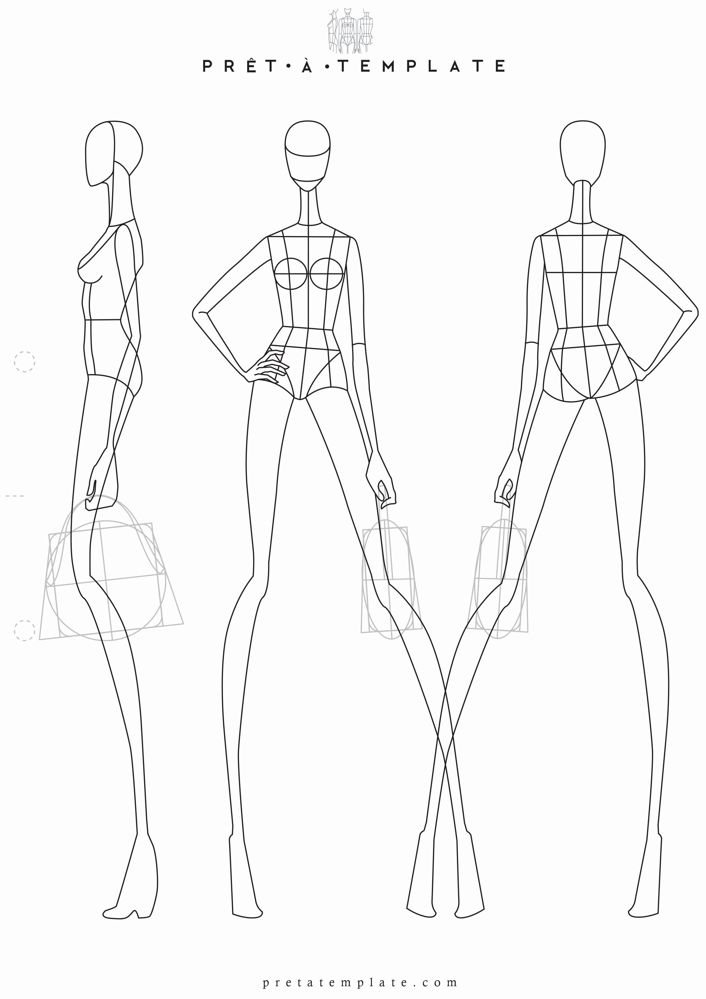 Fashion Design Template Female Fresh Woman Body Figure Fashion Template D I Y Your Own Fashion