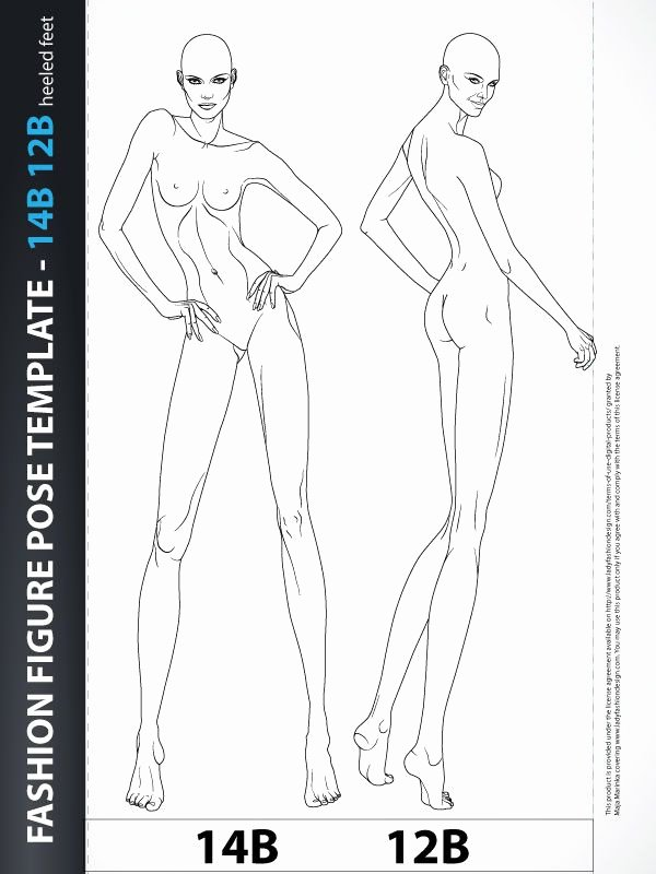 Fashion Design Template Female Lovely Best 25 Body Template Ideas On Pinterest