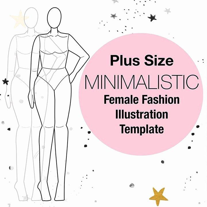 Fashion Design Template Female Unique Plus Size Croquis Fashion Croquis Fashion Design Templates
