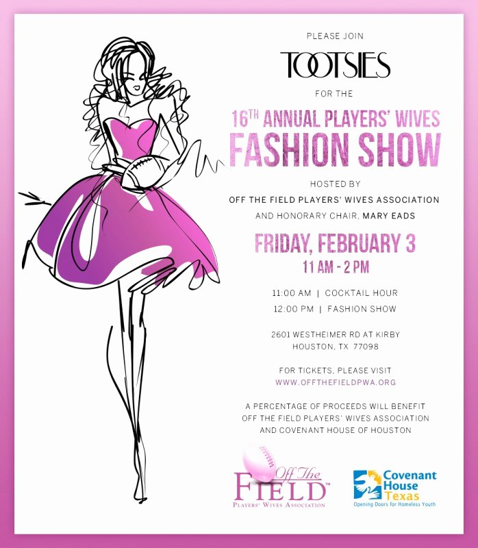 Fashion Show Invitations Templates Beautiful F the Field Players' Wives association 16th Annual