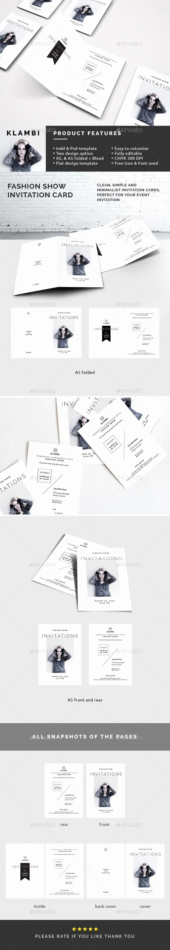 Fashion Show Invitations Templates Best Of Fashion Show Invitation Template by Boxkayu