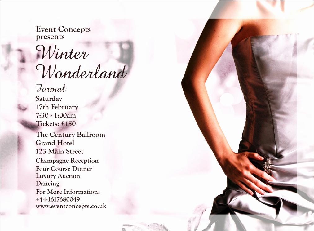 Fashion Show Invitations Templates Elegant Dinner Dance Invitation