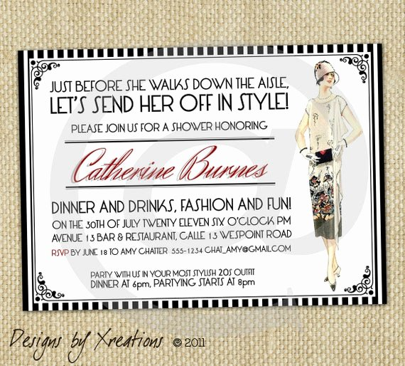 Fashion Show Invitations Templates Inspirational Items Similar to Vintage Fashion themed Art Deco Style