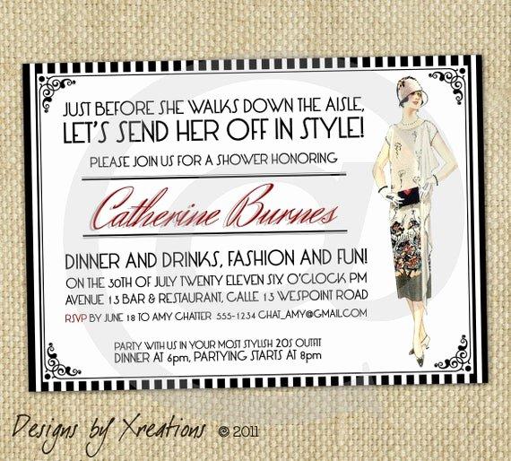 Fashion Show Invitations Templates Inspirational Items Similar to Vintage Fashion themed Art Deco Style