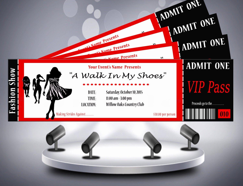 Fashion Show Invitations Templates Luxury Fashion Show Ticket Invitation
