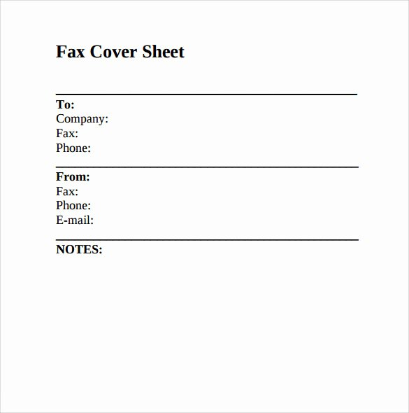 Fax Cover Page Lovely Sample Fax Cover Sheet 8 Documents In Pdf Word