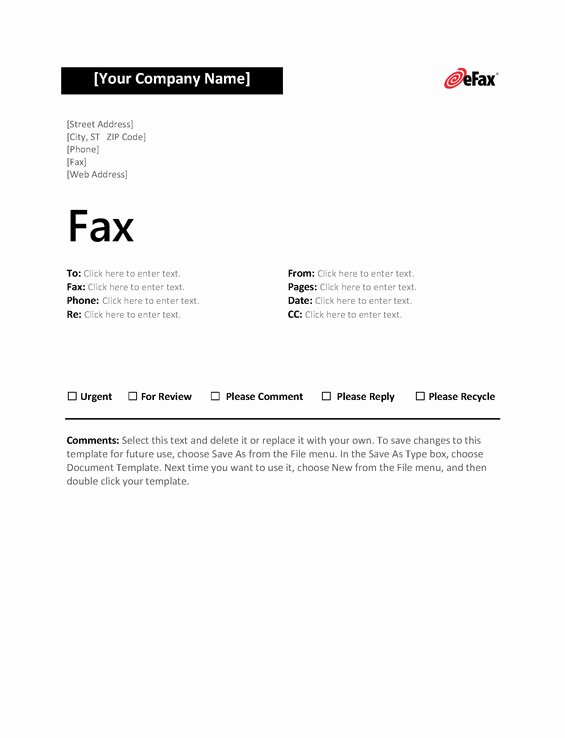Fax Cover Page Luxury Use A Custom Fax Cover Sheet with Line Faxing Efax