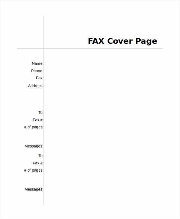 Fax Cover Page Sample Beautiful Sample Fax Cover Page 8 Examples In Pdf Word