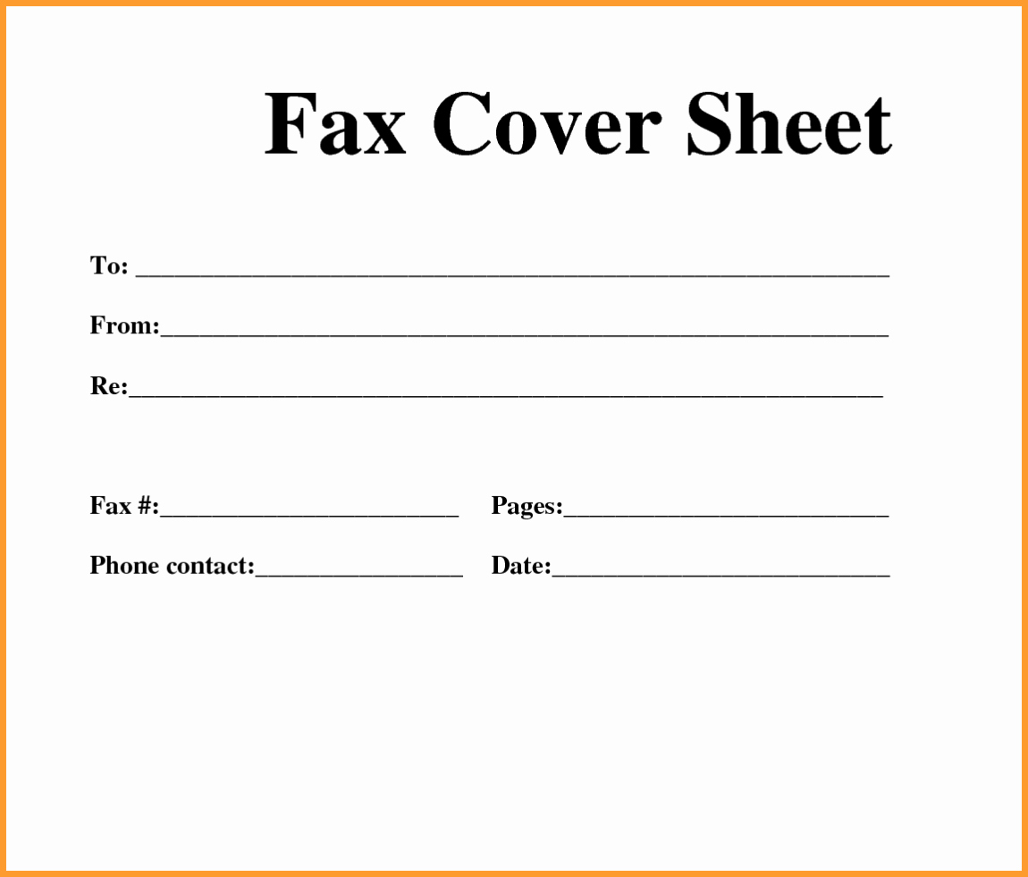 Fax Cover Page Template Fresh Fax Cover Sheet Printable