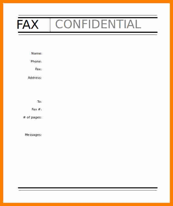Fax Cover Page Template Inspirational 6 Fax Cover Sheet Template Fillable