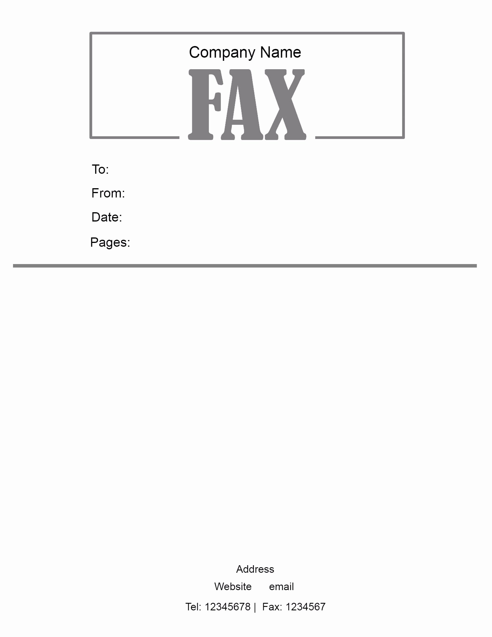Fax Cover Page Template Luxury Free Fax Cover Letter Template