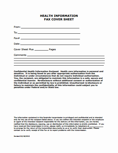 Fax Cover Page Template Unique Medical Fax Cover Sheet Template Free Download Create