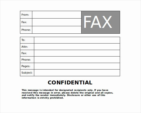 Fax Cover Sheet Confidential Best Of Blank Fax Cover Sheet 9 Free Word Pdf Documents